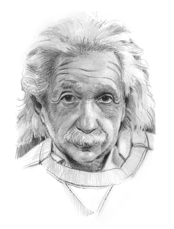 tucci - portrait of einstein